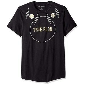 True Religion Men's Gold Foil Graphic Tee T-Shirt